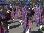 Colorful Bagpipers
