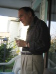 Peter Press, martini, front porch Ocean Grove