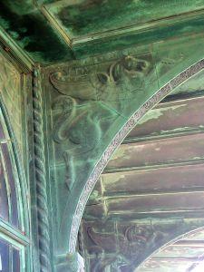 Asbury Park, carousel, copper horse bas relief
