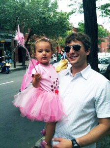pink fairy costume, Father's Day June '10, Finley Ray Clark, Tom Clark