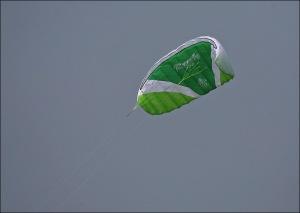 Flying a kite, green kite, Ocean Grove, kite flying