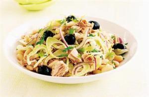 Tuscan Tuna and White Bean salad, summer supper dish