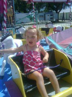 Finny at the fair, amusement ride