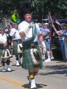 Ocean Grove fourth of July parade, bagpipers