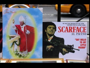 The pope, Al Pacino, scarface the movie, Tony Montana, Littel Italy