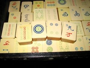 mah jong, mah jongg tiles, bone and bamboo