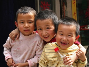 Chinese children, New York city, Asian