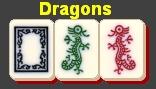 Mah Jong tiles, Mah Jongg tiles, green dragon, red dragon, soap, white dragon
