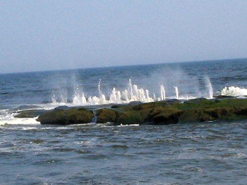 Hurricane Earl, Ocean Grove, water spouts, stone jetty