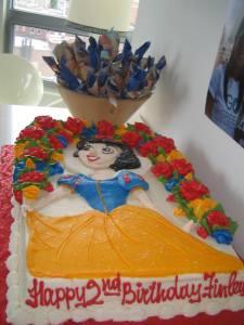 Snow White birthday cake, Finley's birthday cake