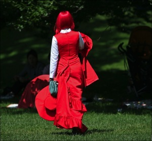 Red hair, Central Park, New York city, Murray Head