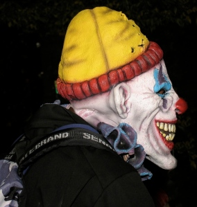 clown, Greenwich Village Halloween parade