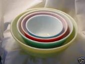 Pyrex mixing bowls, nested bowls,. 1940's