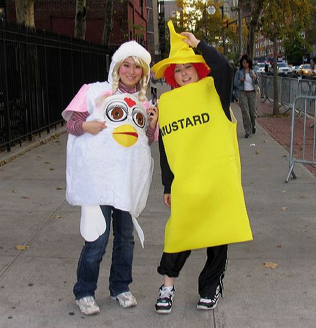 Mustard, chicken, greenwich village halloween parade