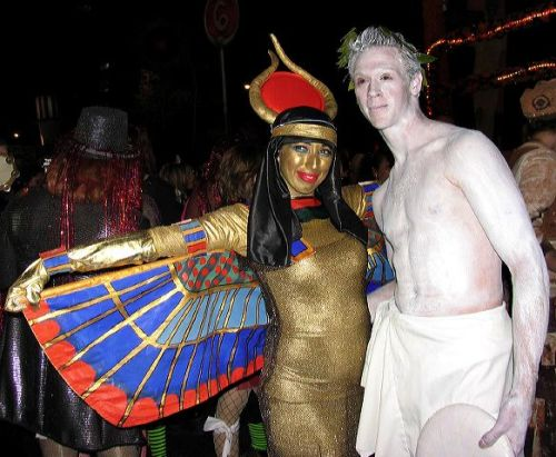 Cleopatra, dead man, greenwich village holloween parade