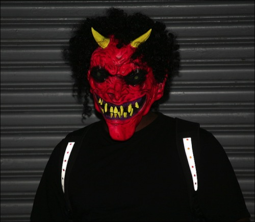 devil mask, Lucifer, Greenwich Village Parade, Murray Head