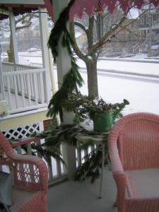 December 26th, front porch, La Vie en Rose, Ocean Grove