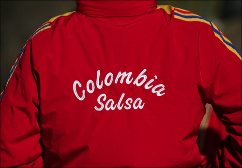 red jacket, Central Park, Colombia, Salsa