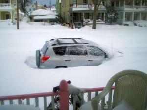 Monday December 27th, car buried, La Vie en Rose Ocean Grove