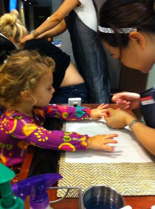 manicure in Manhattan, Finny, Finley Ray Clark, lovie-dovie polish