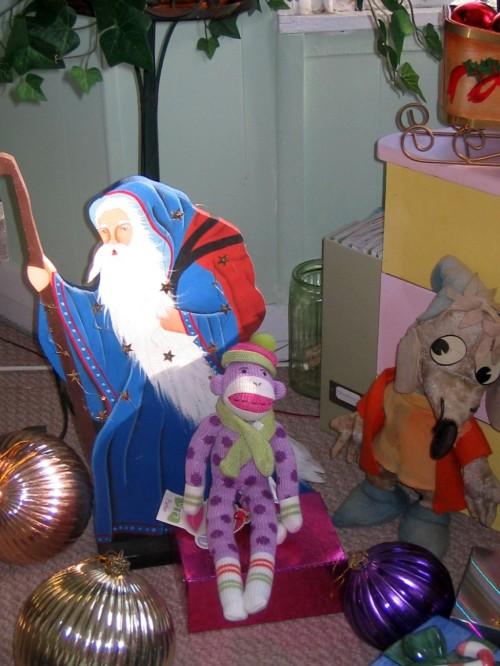 Cinderella Jacques mouse, Christmas, St Nicholas, sock monkey, ornaments
