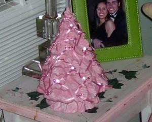 Joel and Chiara Berti, pink ribboned tree