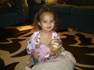baby nursing baby, dolly, breast feeding