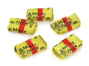 molasses candy, peanut butter filling, penny candy, old time candy