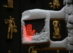 stop light, New York city, Fifth Ave, Stop hand