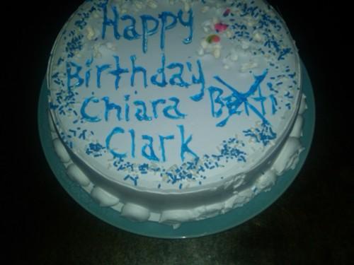 Kiki's birthday cake, Chiara is 34, Chiara Berti Clark