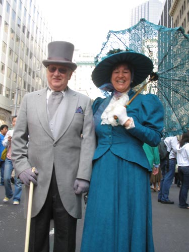 NJ couple in Easter Parade, Fifth Avenue