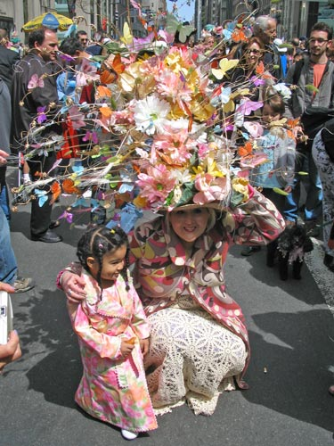 Easter parade, New York City, elaborate floral hat, Easter bonnet