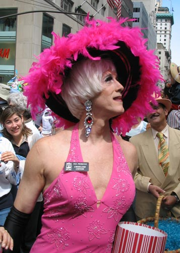 drag queen, Easter parade, Fifth Avenue
