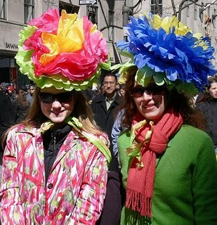 New York city Easter Parade, Easter hats, paper flower hats