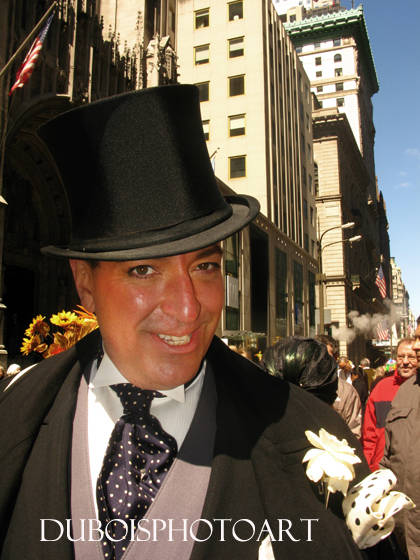 Greg Moore, silk top hat, New York city Easter Parade, Fifth Avenue
