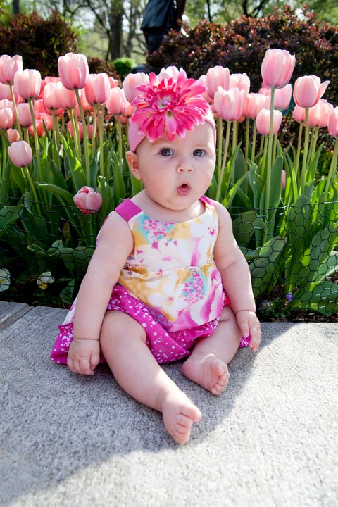 Francesca, Frankie, pink tulips, Carl Shurtz park