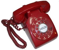 rotary telephone, red phone, desk set phone