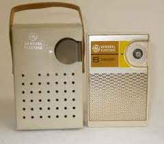 1960's transistor radio with leather case