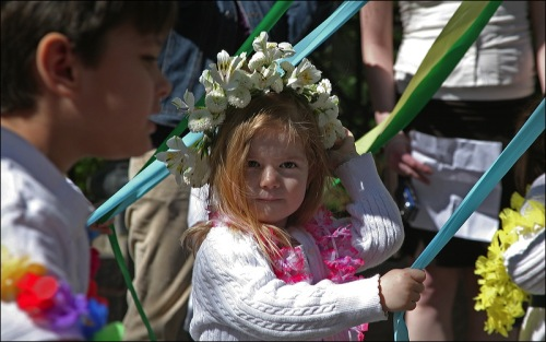 dag hammerskjold plaza, may day, maypole