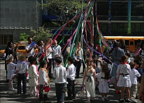 May Day, May Pole, new york city