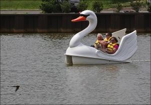 Wesley Lake, Asbury Park, swan boats