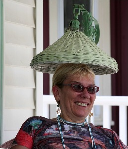 Karen Flaherty, wicker lamp, Ocean Grove, La Vie en Rose