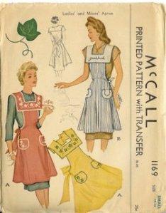 McCall's pattern cobbler apron