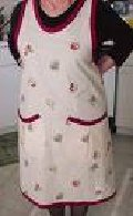 apron with pockets , cobble apron, house dress apron