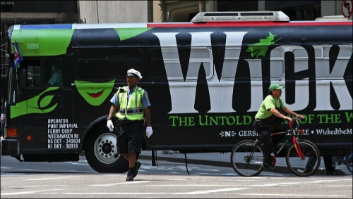 Wicked, policeman, bike rider, new york city