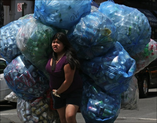 recycling bottles and cans, collecting cans for money