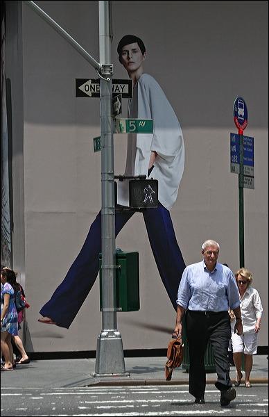 Fifth Avenue, Walk sign, New YOrk City,