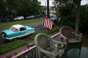 Nash Metropolitan, American Flag, Ocean Grove
