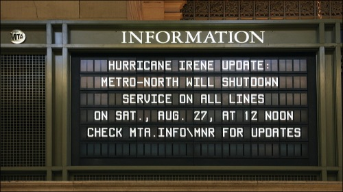 metro north, Grand Central Terminal, Hurricane Irene