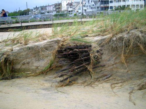 hurricane Irene, ocean grove sand dunes, ocean grove nj